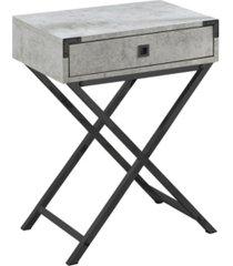 """monarch specialties table - 24"""" h cement nickel"""