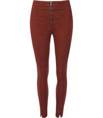 calã§a jeans malwee jegging pesponto bordã´ - bordã´ - feminino - algodã£o - dafiti