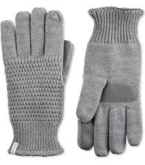 isotoner signature women's textured knit touchscreen gloves