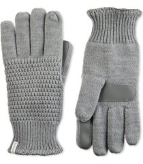 isotoner signature women's textured knit touchscreen gloves
