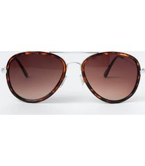 helen aviator sunglasses - tortoise