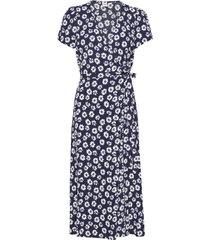 midi wrap dress knälång klänning blå gap