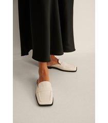 na-kd shoes slip-in loafers med fyrkantig tå - offwhite