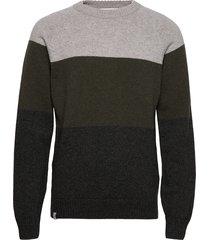 block knit gebreide trui met ronde kraag groen makia