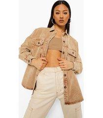 oversized gebleekte corduroy blouse, stone