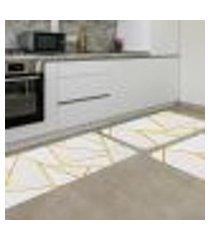 kit tapete de cozinha geométrico gold único