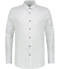 dstrezzed shirt l/s regular collar multi dot fine stretch poplin