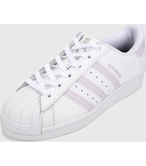 tenis lifestyle blanco-morado adidas originals superstar,