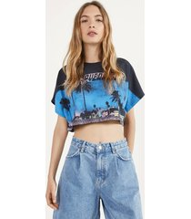 cropped t-shirt met print