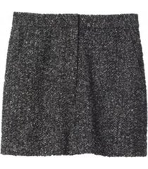 multicolor tweed high waisted mini skirt in black multi