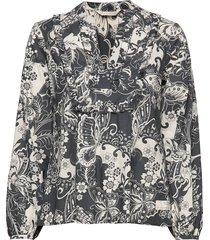 puff-puff blouse blouse lange mouwen grijs odd molly