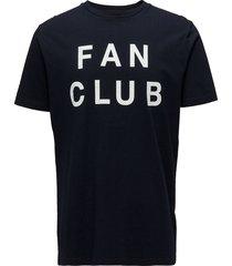 fan club t-shirt t-shirts short-sleeved blå wood wood