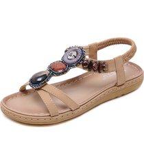 sandalias de mujer sandalias con cuentas de moda