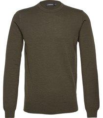 lyle merino crew neck sweater gebreide trui met ronde kraag groen j. lindeberg