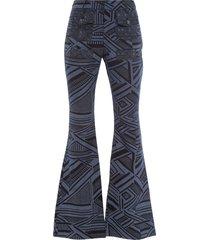 calça feminina flash slare bolsos - azul