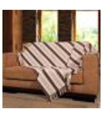 manta para sofá ipê - 150 x 140 cm tabaco