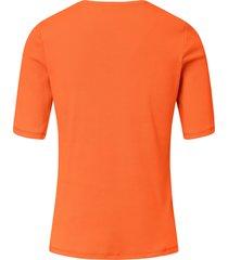 shirt van 100% pima cotton met ronde hals van peter hahn oranje