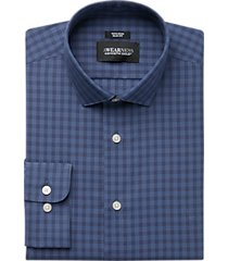 awearness kenneth cole navy check slim fit dress shirt
