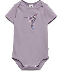 hummingbird front s/s body bodies short-sleeved lila müsli by green cotton