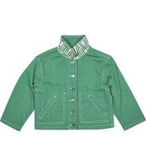 stella mccartney side slit buttoned jacket