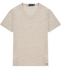 camiseta new sand heather polo ralph lauren mc c/v unicolor custom slim fit