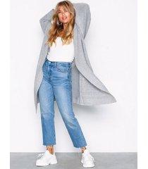 nly trend cozy cardigan knit stickade tröjor ljus grå