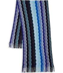 2-piece intarsia wool-blend scarf & beanie set