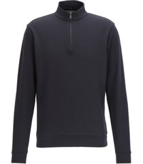 boss men's cotton birdseye half-zip sweatshirt