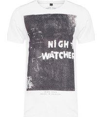 t-shirt masculina night watcher - branco