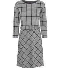 abito a quadri con cintura (grigio) - bodyflirt