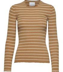 teri crew neck st 11201 t-shirts & tops long-sleeved bruin samsøe samsøe