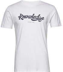 alder big knowledge tee - gots/vega t-shirts short-sleeved vit knowledge cotton apparel