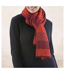 100% alpaca scarf, 'diamond of the andes' (peru)