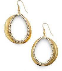 karine sultan crystal front hoop earrings in gold at nordstrom