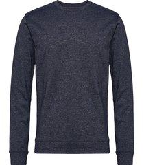 crew neck sweat sweat-shirt tröja blå shine original