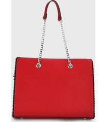 bolso rojo-plateado paris district