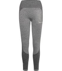 black elevate wave leggings running/training tights grijs famme