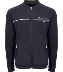 boss dark blue logo track jacket 50396892-403