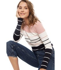 sweater only natalia multicolor - calce ajustado