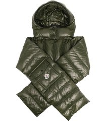 moncler quilted hooded scarf - green
