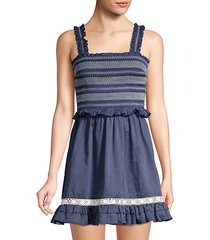 lexia smocked cover-up dress