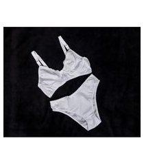 d'lume lingerie - conjunto calcinha e sutiá comum lycra tamanhos grandes - dl-02037