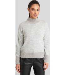 trendyol beard yarn sweater - grey