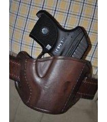 leather belt gun holster fits diamondback  .380 rh