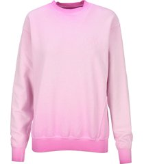 opening ceremony faded pink rose crest sweatshirt