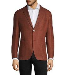 rustic wool-blend boucle jacket