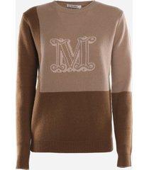 max mara monogram cashmere sweater