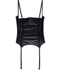 corselet aro couro minsky loungerie – preto