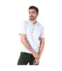 camiseta adamas gola padre branca