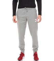 pantalón gris puma classics sweat pants cuff tr